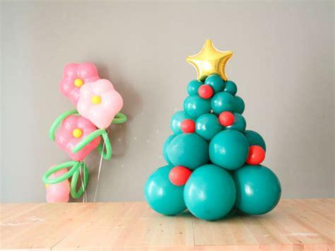193 rbol de navidad con globos manualidades de navidad con