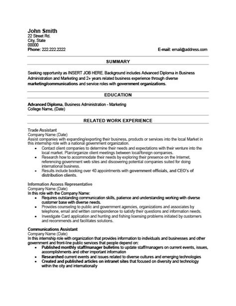 trade assistant resume template premium resume sles exle