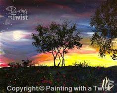 paint with a twist spokane lake sunset set couples each paint 1 2 of set avon oh