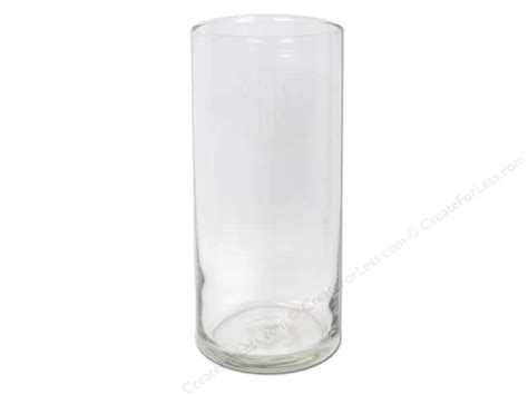 Libbey Glass Cylinder Vase by Crisa Glass Cylinder Vase 7 1 2 In 12 Pieces
