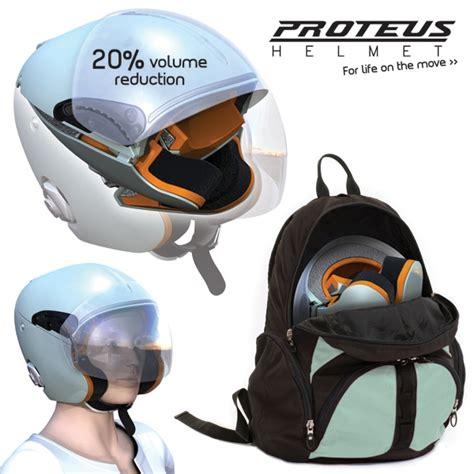 helmet design calculations students creates proteus foldable motorcycle helmet