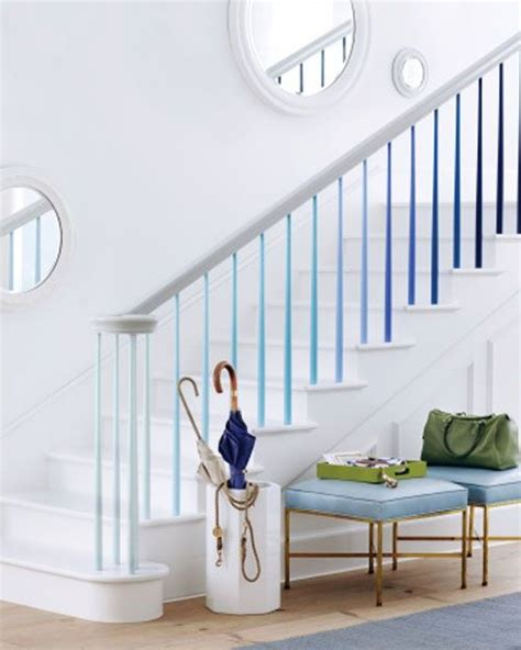 painting banister spindles staircase ideas ombre painted stair spindles stairs