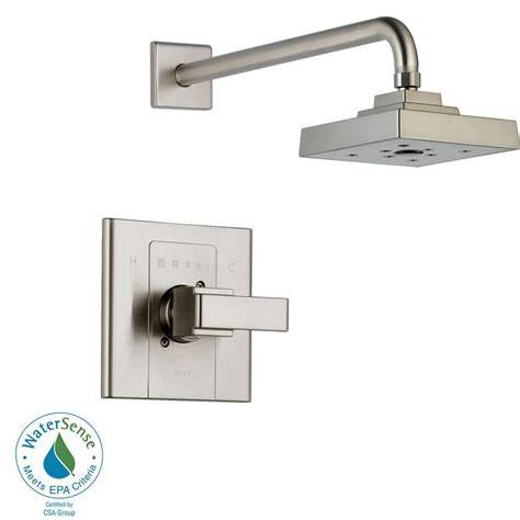 Delta Shower Faucets With Sprays by Delta 1 Handle 3 Spray Tub And Shower Faucet Trim Kit Only In Stainless Valve And