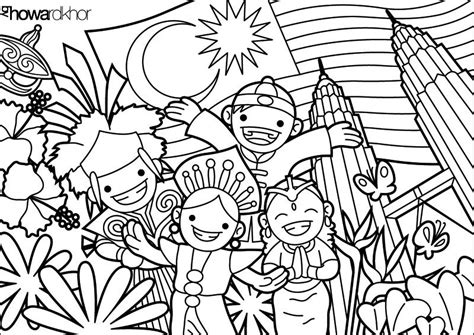 coloring book for adults malaysia malaysia to color teach about malaysia and
