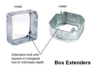 ceiling box extension electrical box types and uses