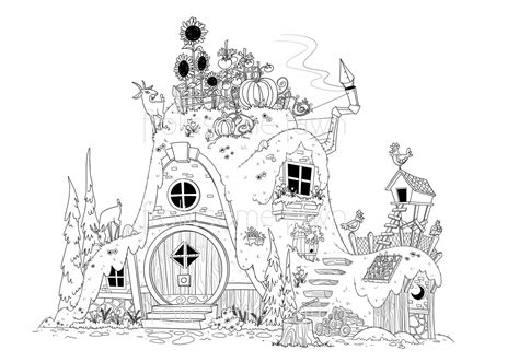 fairy tale coloring page for adults and children by