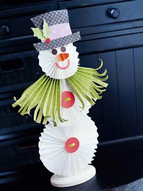 christmas snowman  fan folded paper