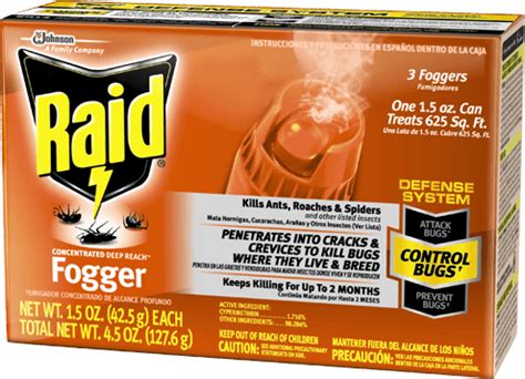 raid bed bug fogger raid 174 concentrated deep reach 162 fogger products raid 174 brand sc johnson