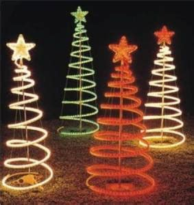 5 foot spiral rope light christmas tree flashing rope light spiral tree