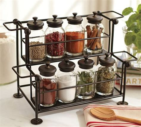 Pottery Barn Spice Rack pottery barn counter spice rack and jars for the home