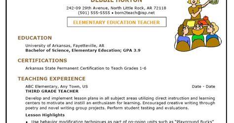 early childhood education resume sles sle resume for early childhood sle resumes