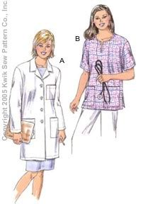 pattern lab review kwik sew 3347 misses lab coat top