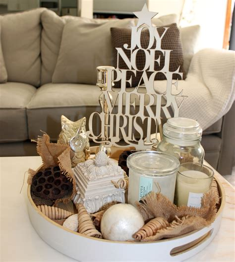 My simple Christmas coffee table display   A journey not a destination