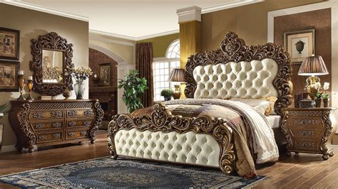 Michael Amini Bedroom Set 5 piece vienna european king bedroom set homey design hd