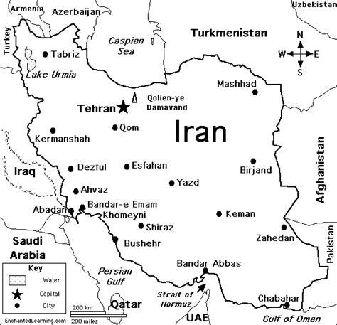 iran map coloring page iran enchantedlearning com