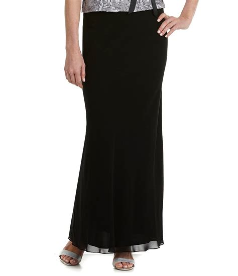 alex evenings chiffon a line skirt dillards