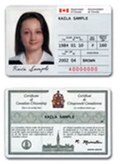 canadian citizenship card template citizenship card canada immigration and visa discussion