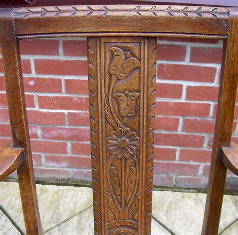 506 Range Distressed Oak Antique An Arts Crafts Oak Chair Antiques Atlas