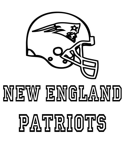 New England Patriots Coloring Pages Patriots Coloring Pages