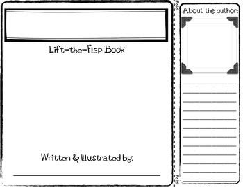 Lift The Flap Book Template For Informational Writing Tpt Flap Book Template