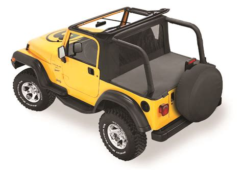 Top For Jeep Tj Bestop 174 53809 15 Halftop In Black Denim For 97 02 Jeep