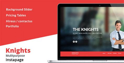 themeforest instapage knights multipurpose instapage template by xvelopers