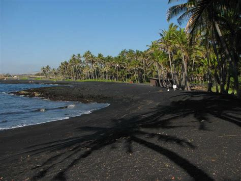 black sand beach big island punalu u black sands beach hawaii top ten