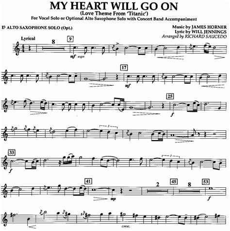 my heart will go on sheet music musicainfo net details my heart will go on from titanic