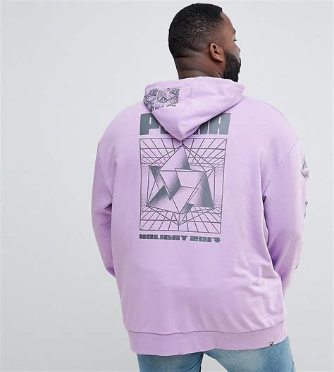 Hoodie Anonymous Back Print Cloth lyst plus hoodie with back print in purple