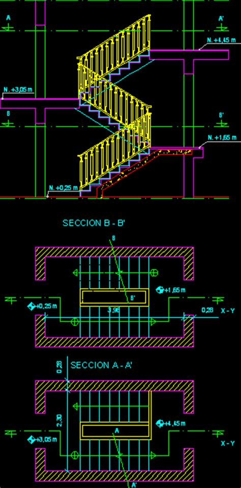 staircase section dwg file stairs section in autocad drawing kamocad