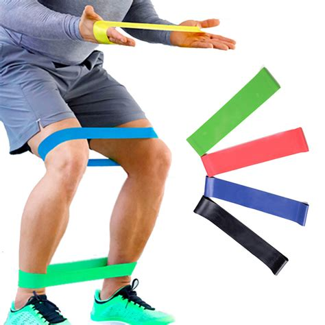 Resistance Band Bands Set Alat Fitness Portable Workout aliexpress buy 4 levels resistance bands strength fitness band elastic