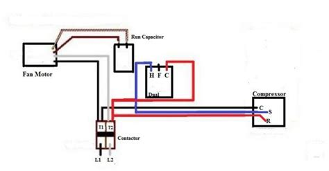 wiring diagram for capacitor to ac compressor wiring get