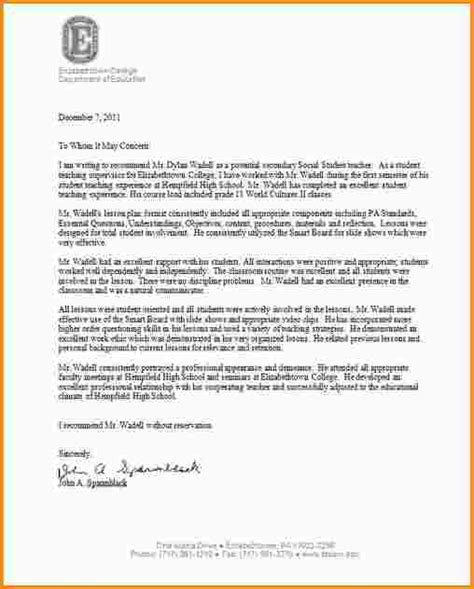 Sle Recommendation Letter For College Instructor Student Recommendation Letter Best Photos Of College Letter Of Recommendation Templates Ms