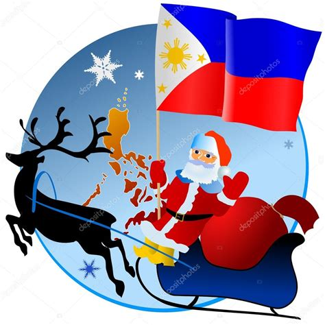 merry christmas philippines stock vector  perysty