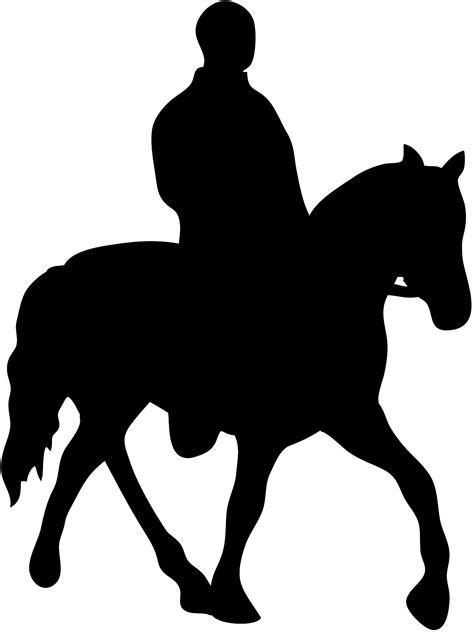 man on horse silhouette clipart - Clipground