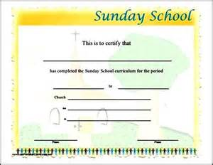 sunday school attendance template sunday school attendance certificates sle templates