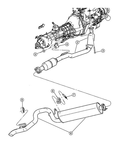 2002 Jeep Liberty Exhaust System Jeep Liberty Exhaust Diagram Jeep Free Engine Image For