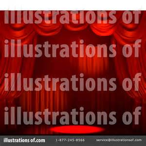 Used Theatrical Drapes Curtains Clipart 20343 Illustration By Tonis Pan