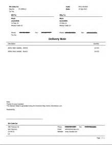 Delivery Note Template by Delivery Note Template Sle Delivery Note Delivery Note