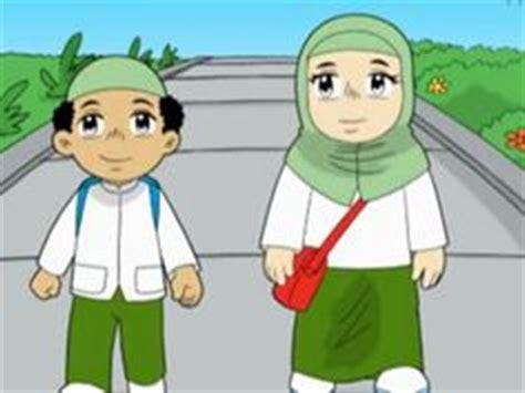 wallpaper anak islam lucu gambar kartun muslim dan muslimah lucu banget terbaru