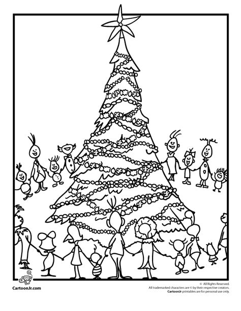 grinch tree coloring page whoville coloring pages coloring home