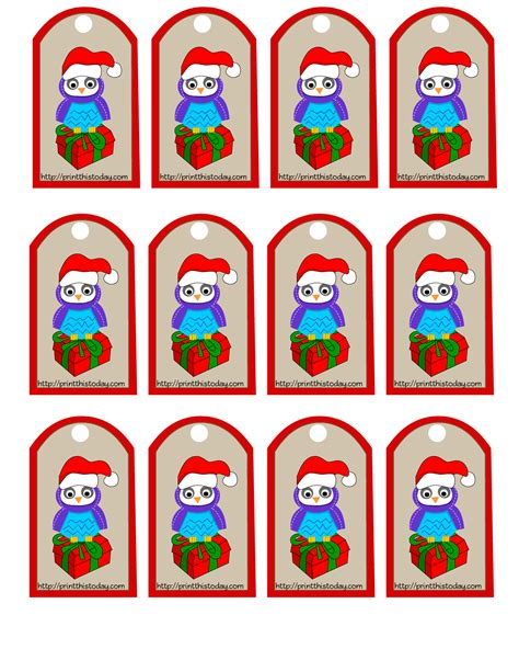 printable owl tags 7 best images of cute owl free printable christmas gift
