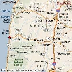 map of newport oregon newport oregon