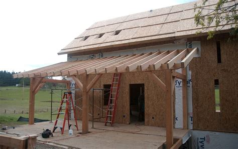 Porch Roof Construction Eye On Orcas Building A Timber Frame Homestead On Orcas