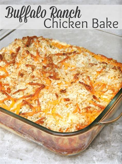 buffalo ranch chicken bake recipe casserole recipes bread crumbs and casseroles