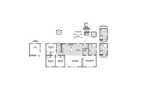 crazy house floor plans cmh crazy eights slt28564a 3 bedroom mobile home
