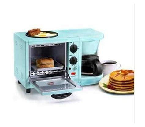 Turquoise Toaster Oven 3 In 1 Multifunction Breakfast Deluxe Aqua College