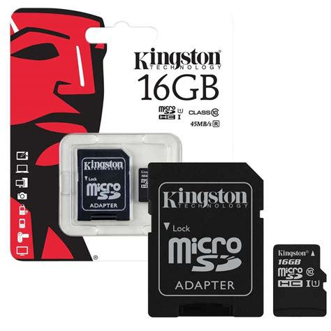 Kingston Microsd 16gb Class 10 kingston micro sd sdhc memory card class 10 16gb 7dayshop