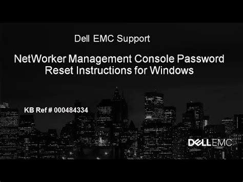 networker management console networker management console password reset