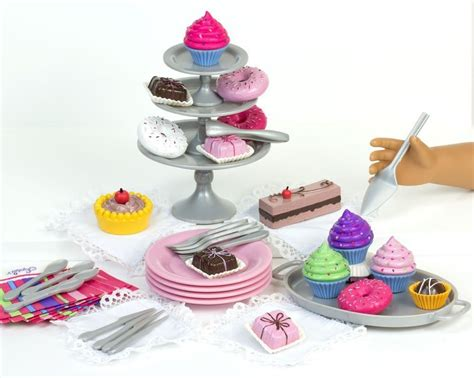 food accessories 42 dessert set works for 18 quot american dolls food accessories ebay